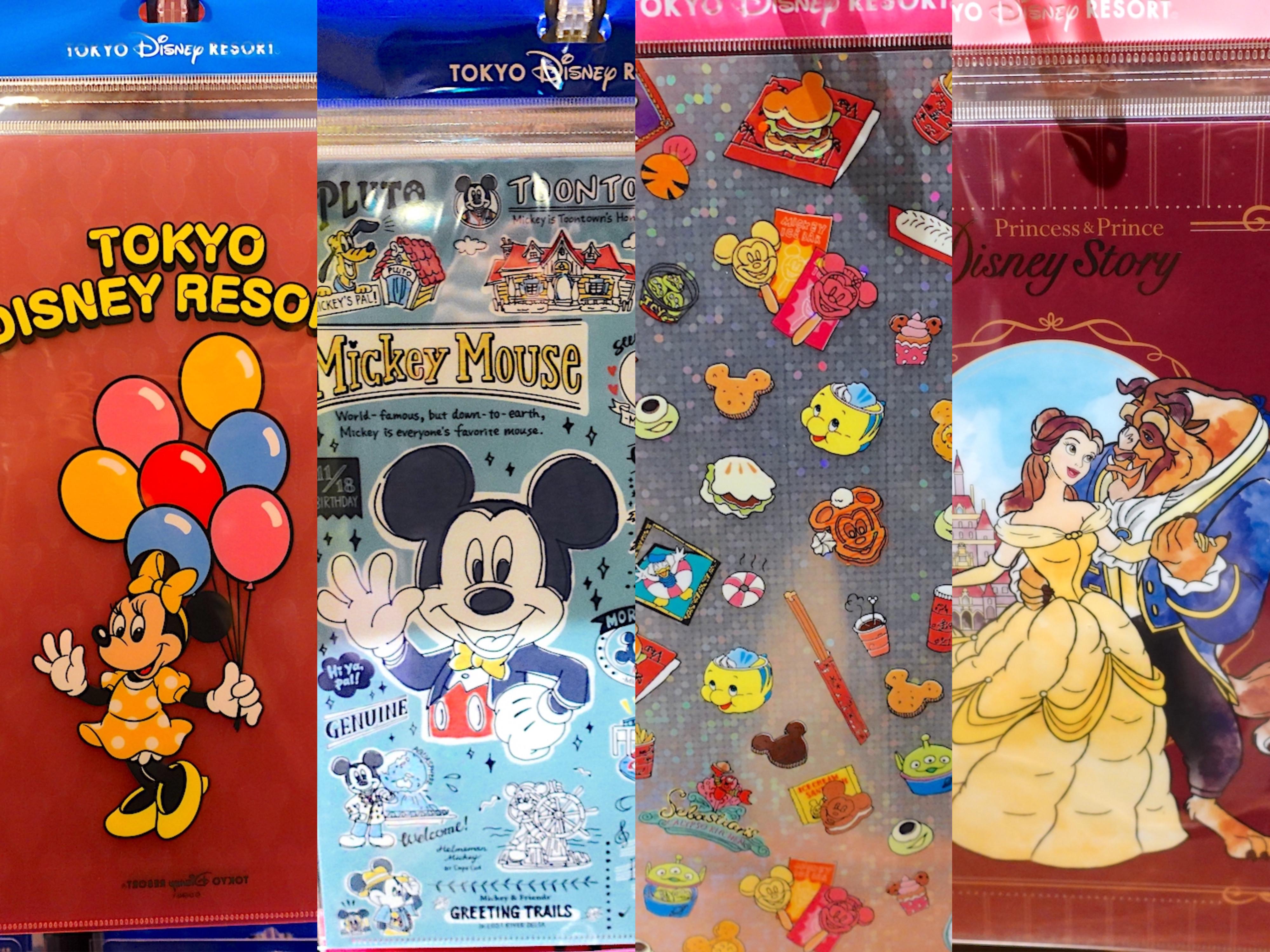 ディズニーのクリアファイル14選!文房具のお土産に人気のセット・新商品を値段とご紹介