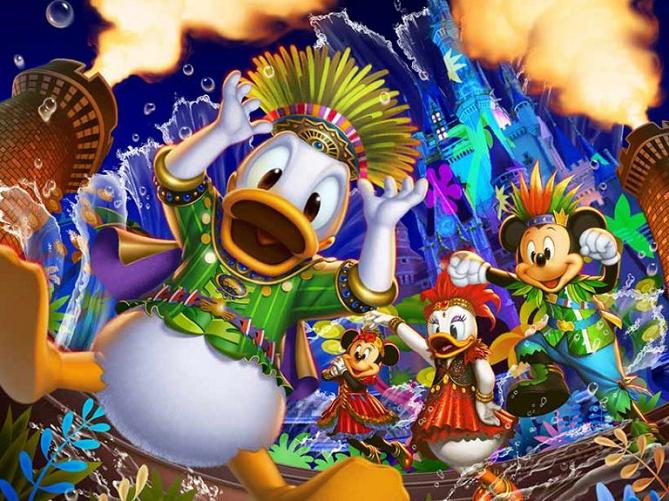 【最新】ドナルドのホット・ジャングル・サマーお土産グッズ&ショー情報!夜の城前ショーが復活!ニクジュディの散水ショーも開催!