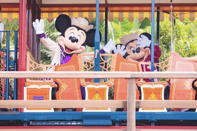 【TDL】ウエスタンリバー鉄道のグリーティング!ミッキー&ミニーに会える!
