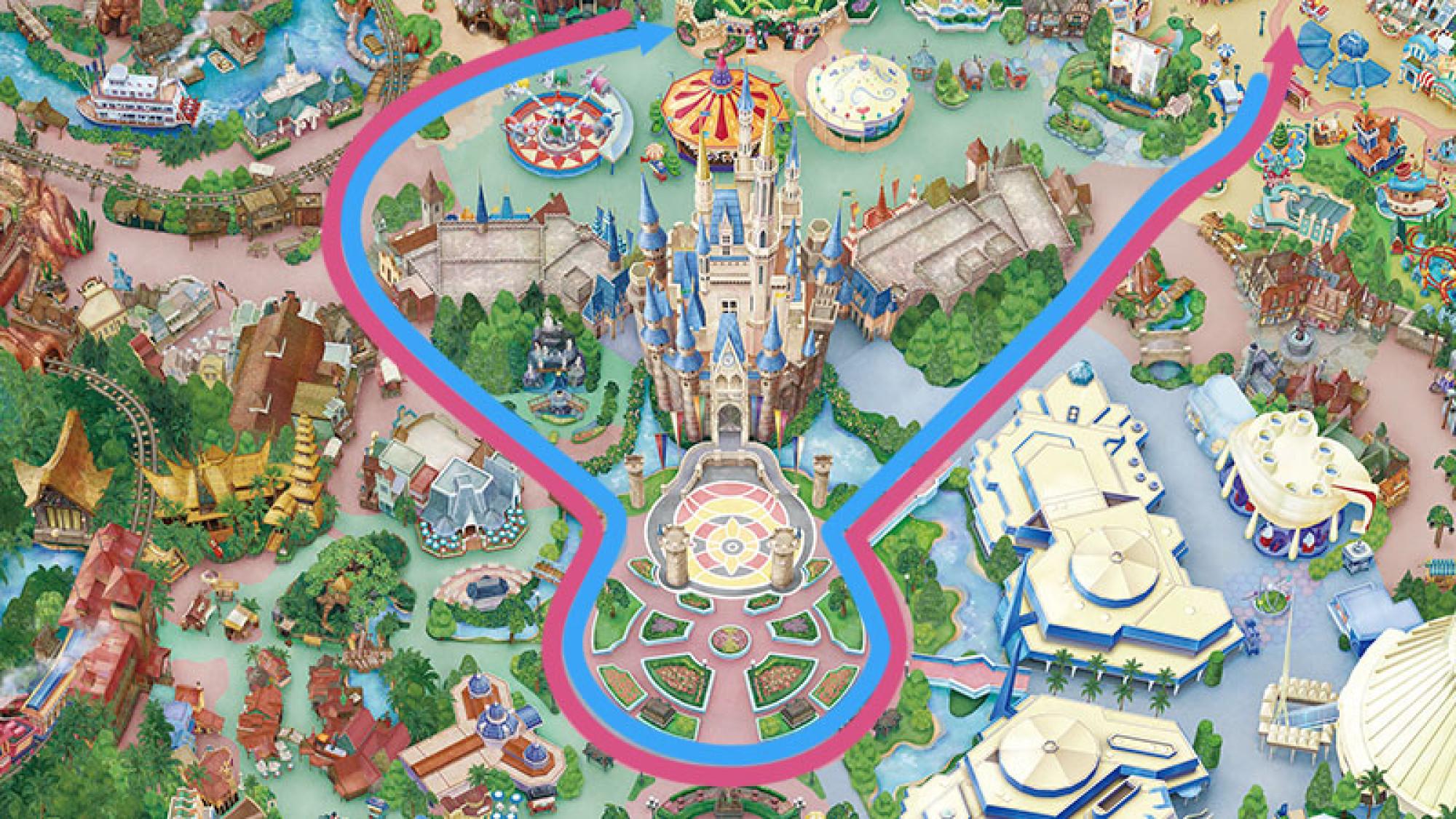 パレードルートマップ
