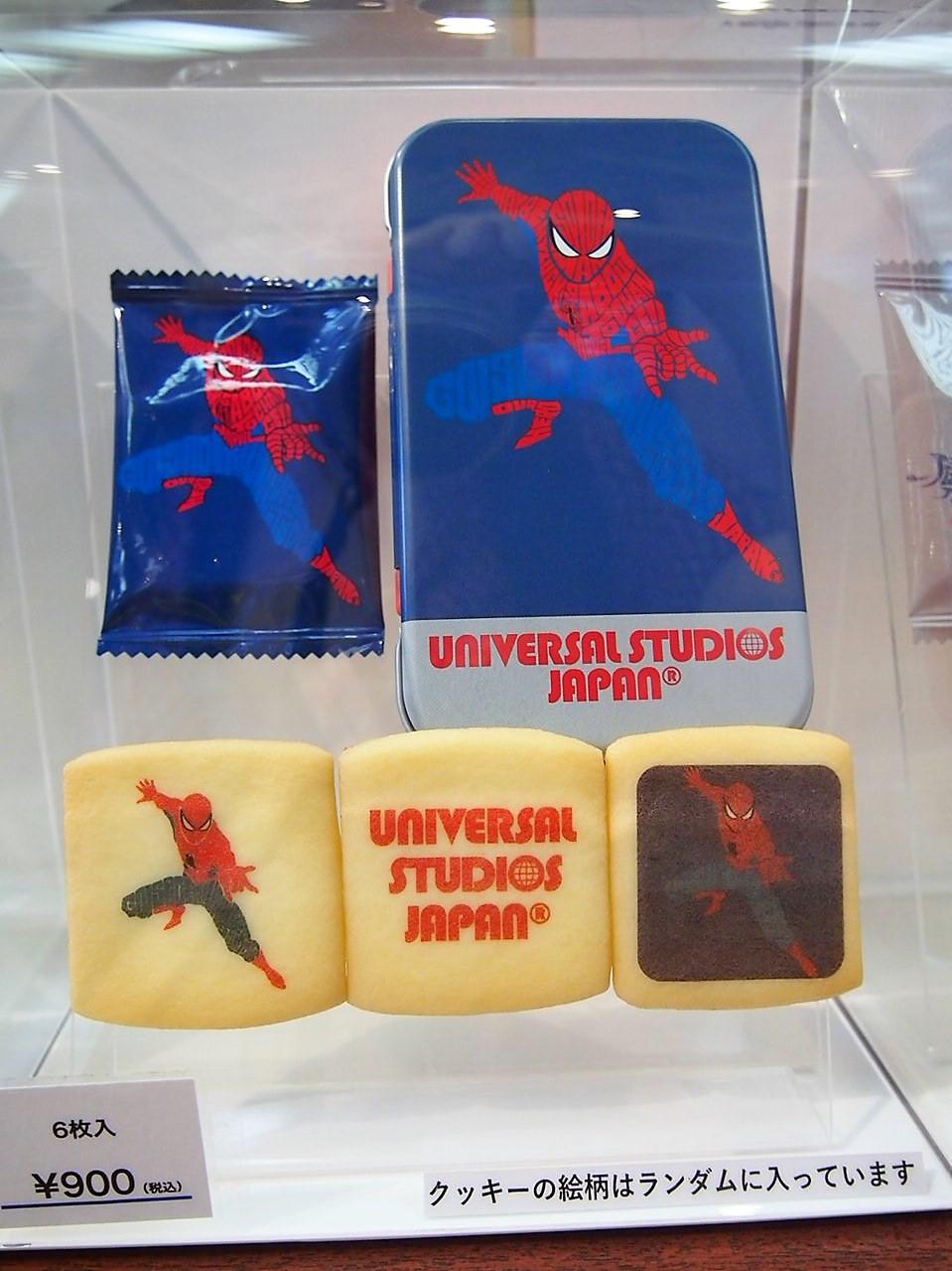 スパイダーマンのプリントクッキー