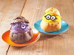 ミニオン・シュークリーム&イーブルミニオン・シュークリーム ~ムラサキイモ~