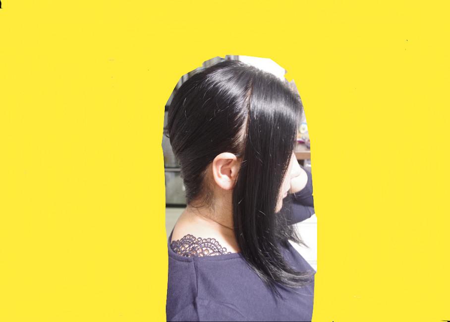 前髪部分をとる