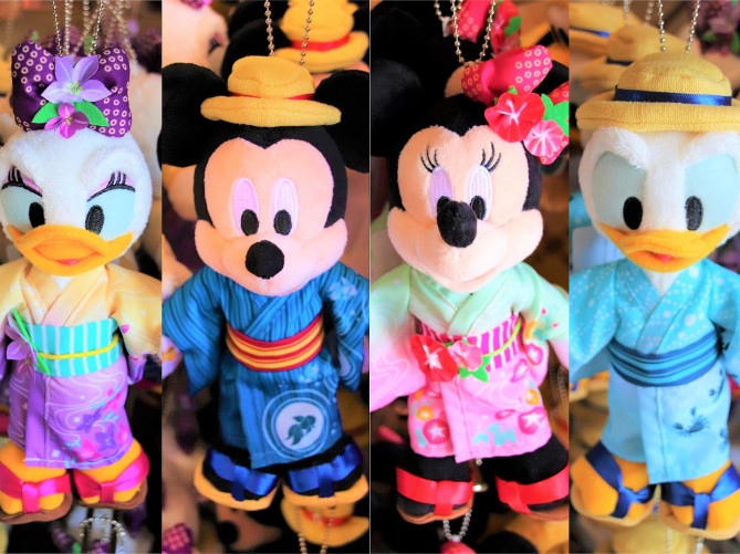 【2018】ミッキーの納涼ぬいば全7種類!夏らしい和装姿のディズニーぬいぐるみバッジ