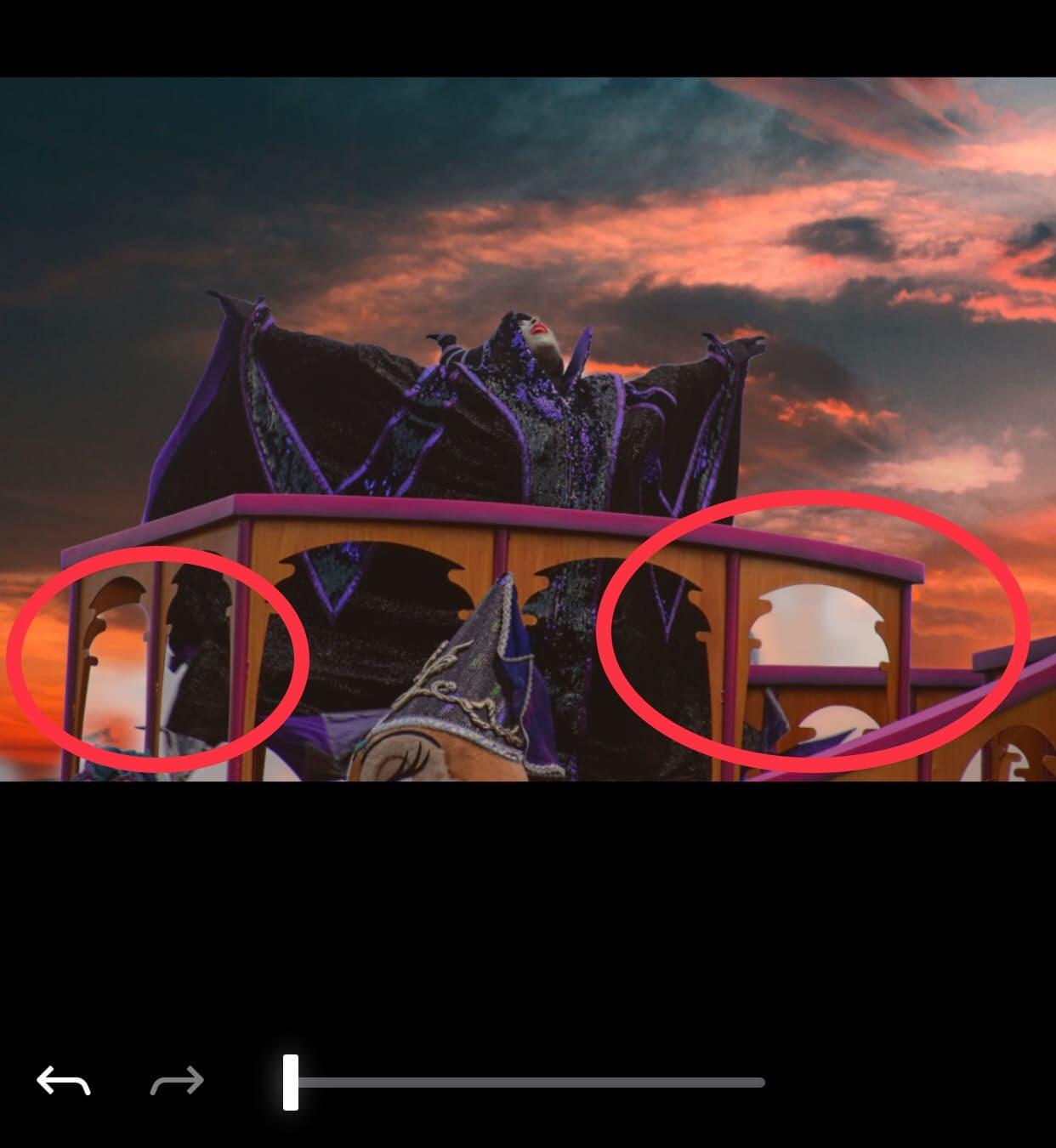 マレフィセントの画像に、燃えるような夕日の空をつけたかったけれど・・