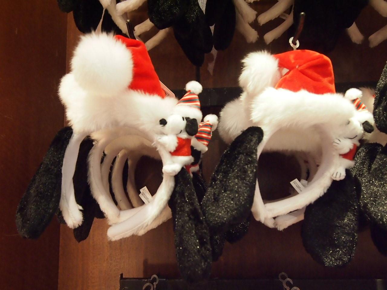 スヌーピーたれ耳クリスマスカチューシャ