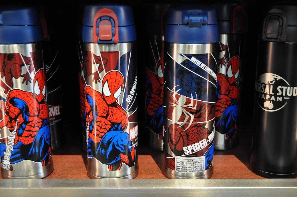 スパイダーマンのステンレス水筒