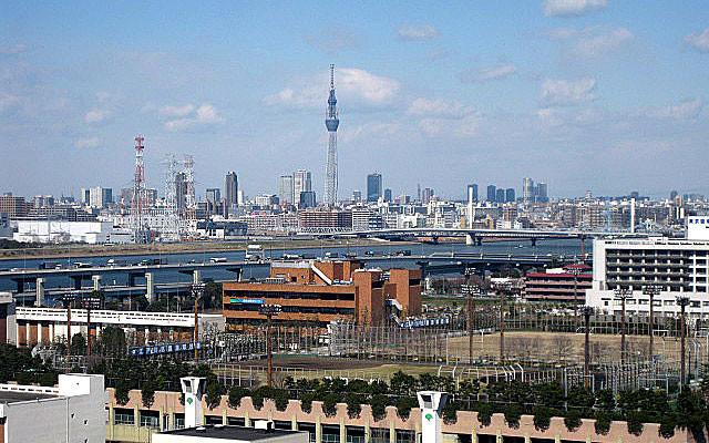 東京スカイツリーの見える北方面