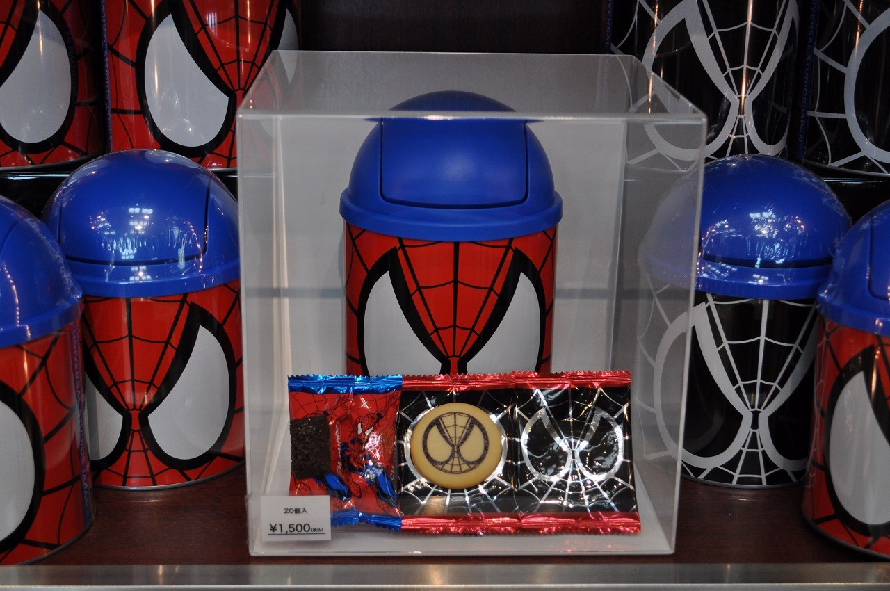 スパイダーマン缶入りクッキー