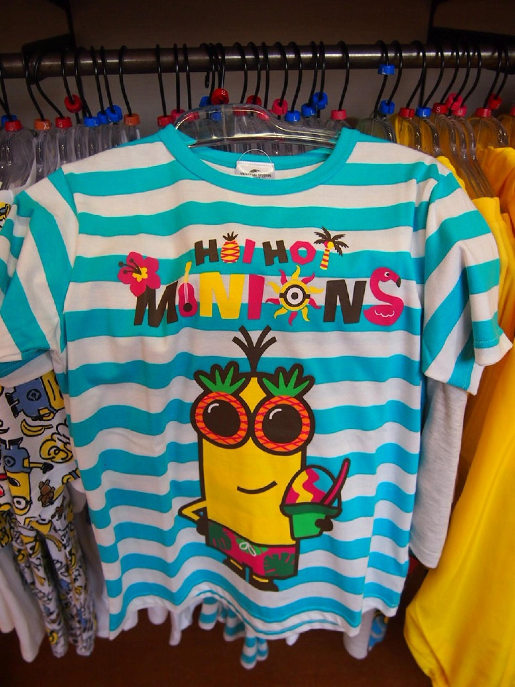 ミニオンの常夏ストライプTシャツ