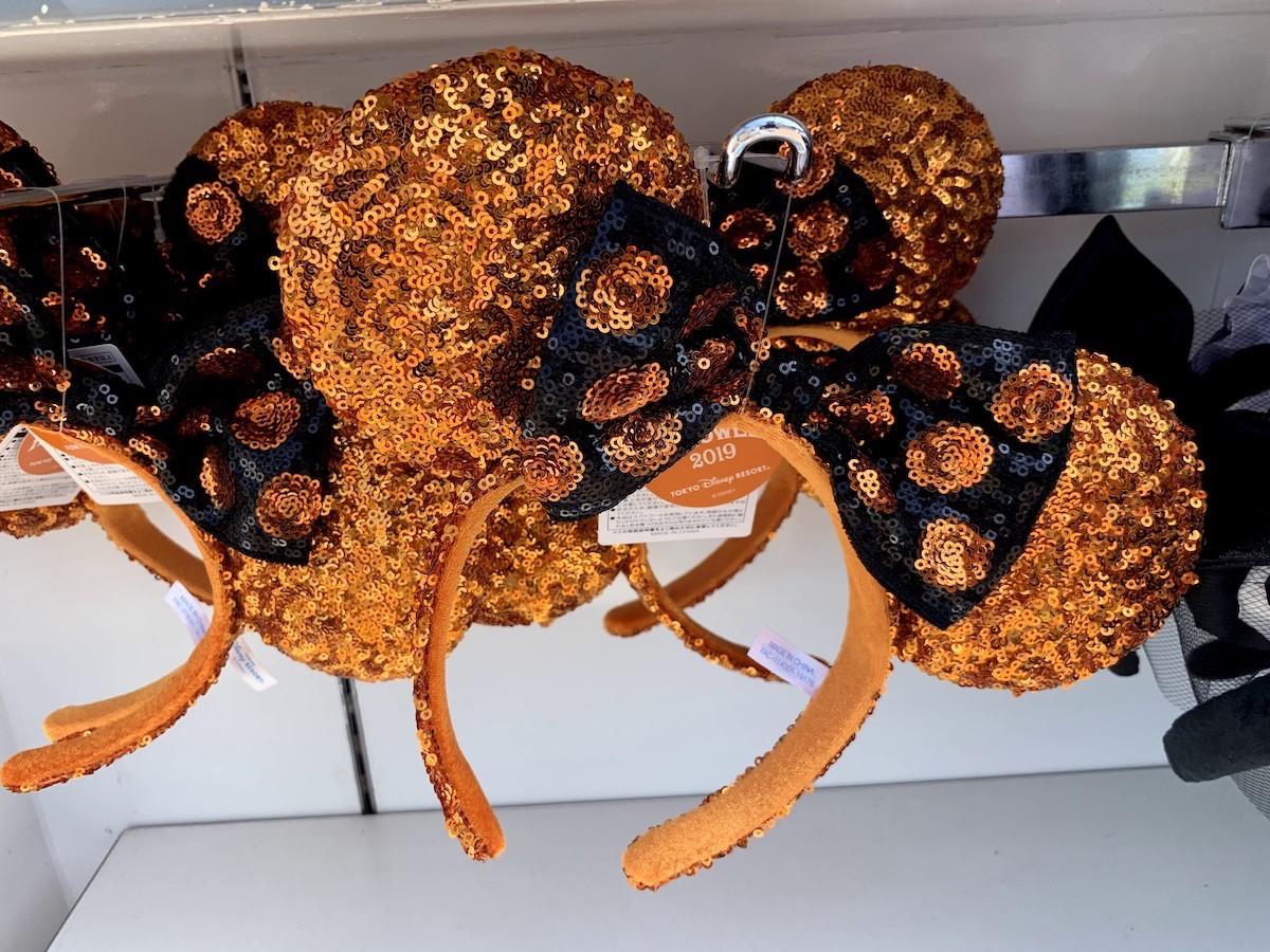 ミニースパンコールカチューシャ(オレンジ)
