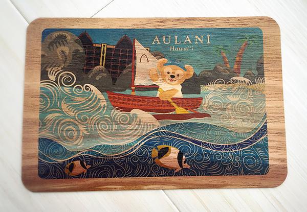 アウラニ限定のダッフィーの木製ポストカード
