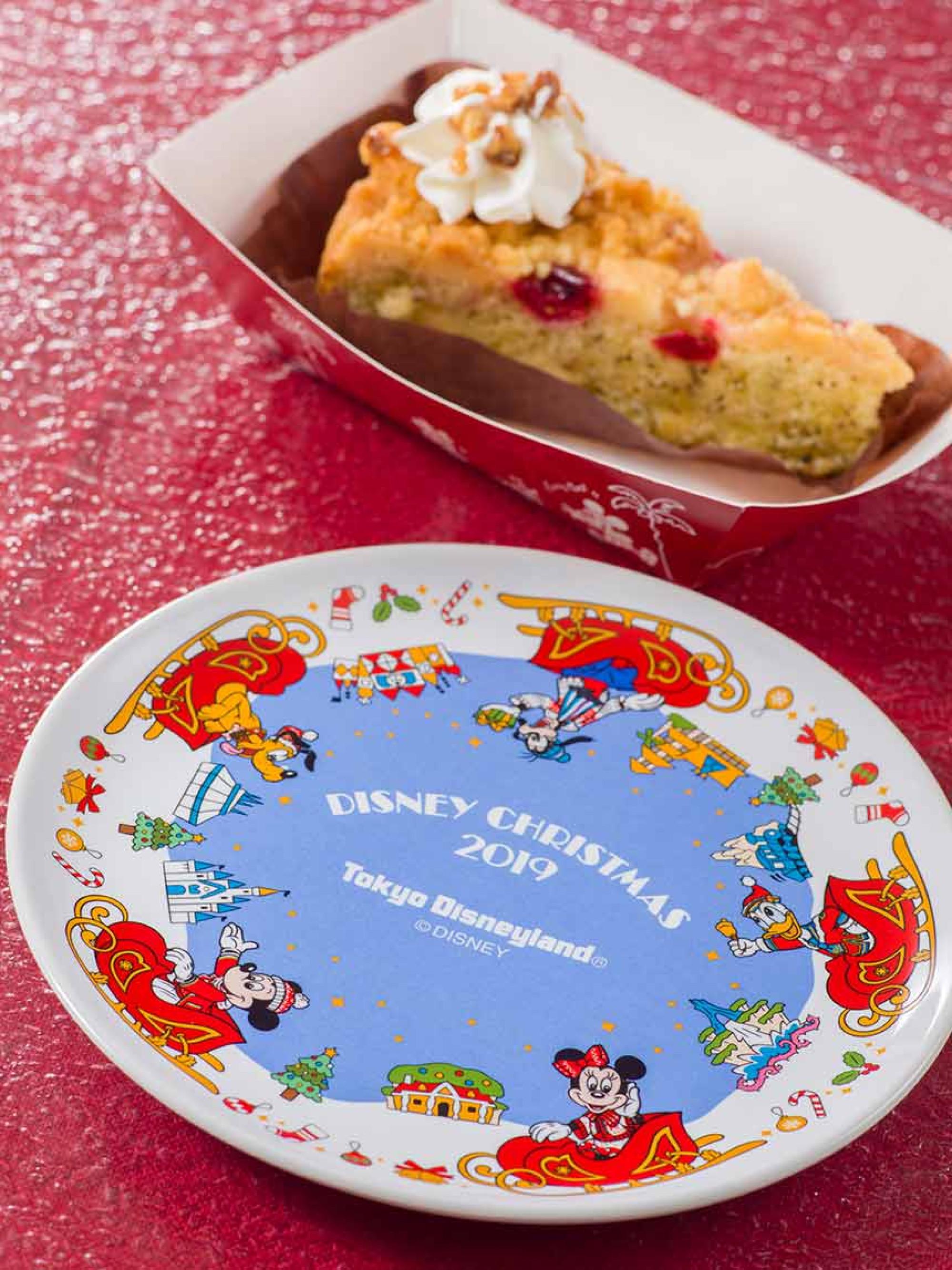 クランベリー&紅茶のケーキ、スーベニアプレート付き