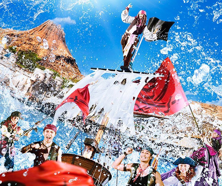 ディズニーシーで海賊たちが大暴れ!