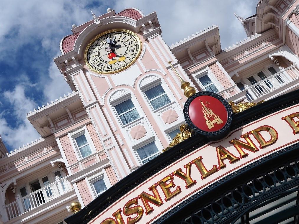 ディズニーランドパリのミッキーの時計