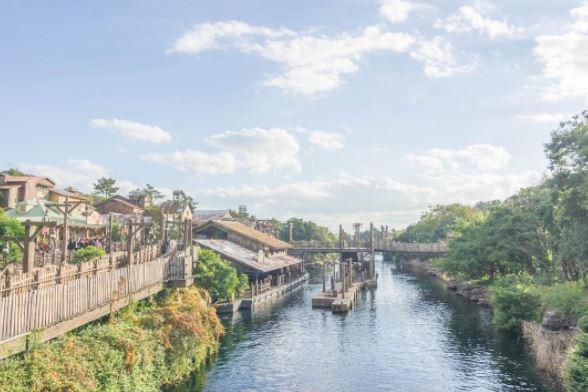 吊り橋から見たロストリバーデルタの風景