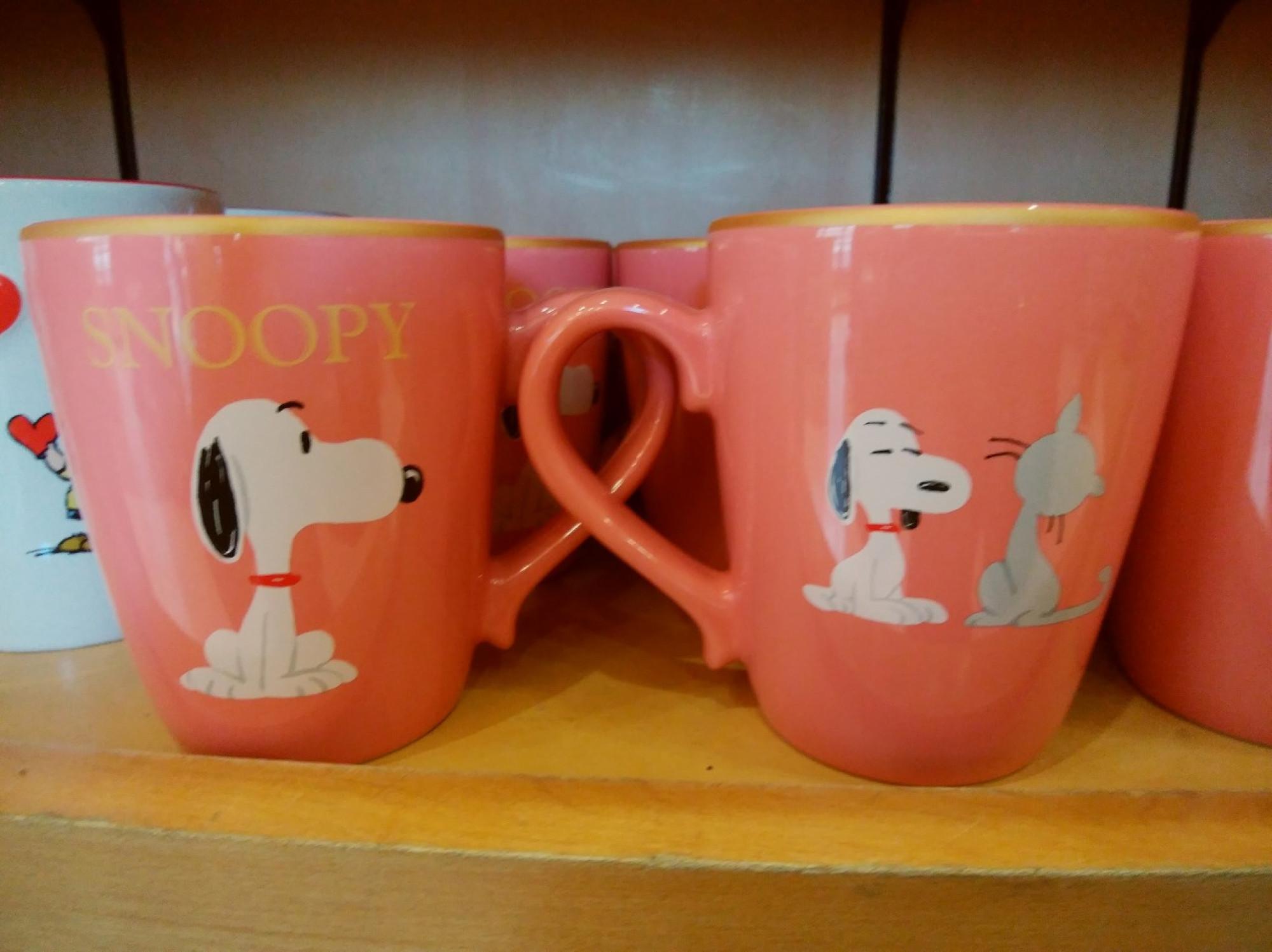 スヌーピー×ネコのマグカップ
