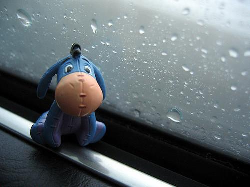 なぜかくもりや雨が似合うイーヨー